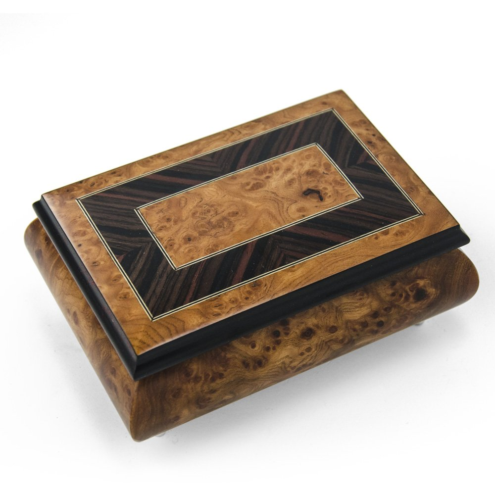 Handcrafted 30 Note Classic Style Music Box With Framed Border Inlay - Can't Help Falling in Love