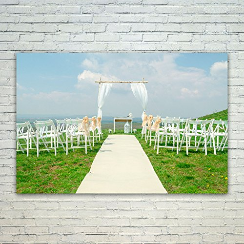 Jewish Wedding Canopy - Westlake Art Aisle Ceremony - 12x18 Poster Print Wall Art - Modern Picture Photography Home Decor Office Birthday Gift - Unframed 12x18 Inch (0FAE-51754)