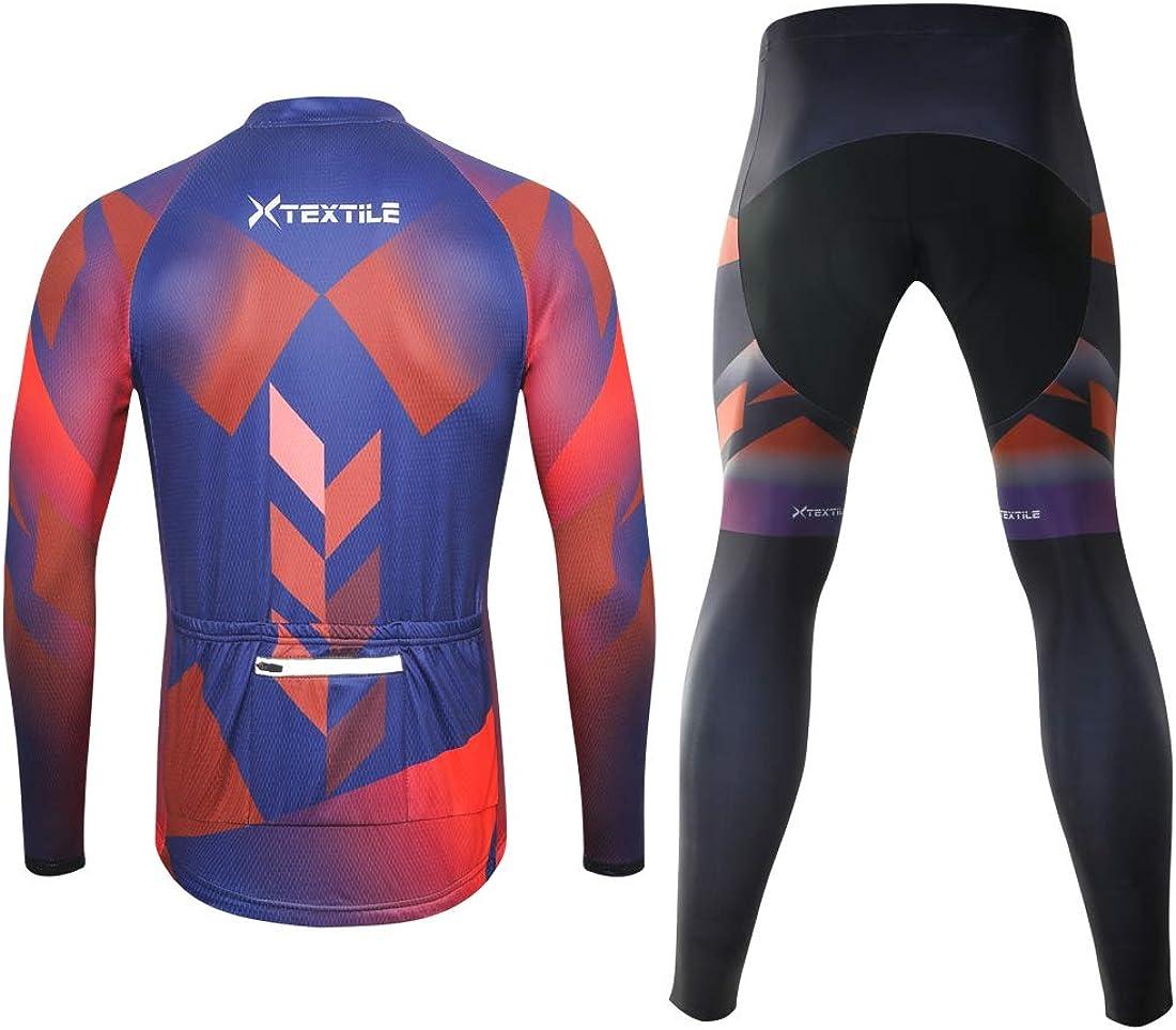 Men/'s Cycling Jersey /& Non Bib Tight Set Cycling Jersey Tights Long Sleeve