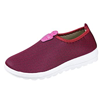 2345a3d9685 Fiaya Couple Men Women Light Mesh Breathable Casual Slip-On Sneakers Loafers  Street Walking Shoes