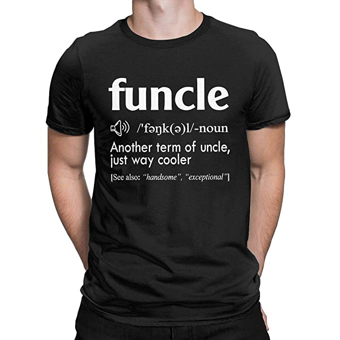 4e7a4f494 Funcle Defination Funny T Shirt Fun Uncle Gift Idea Tees Tops for Men Black