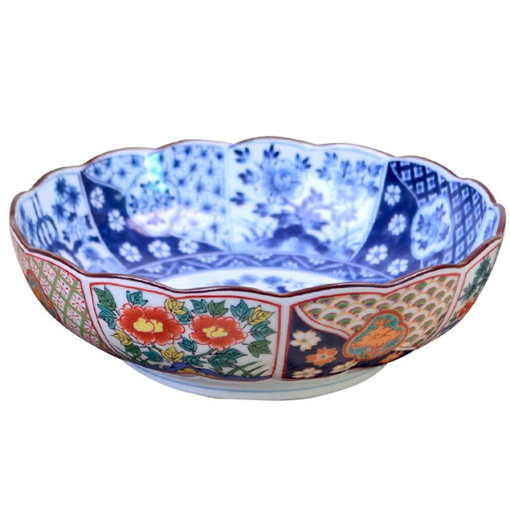 高品質の日本の手塗りセラミックボウル、大容量サラダ/ラーメン/スープボール(サイズ:8インチ)   B07H7MVNHV