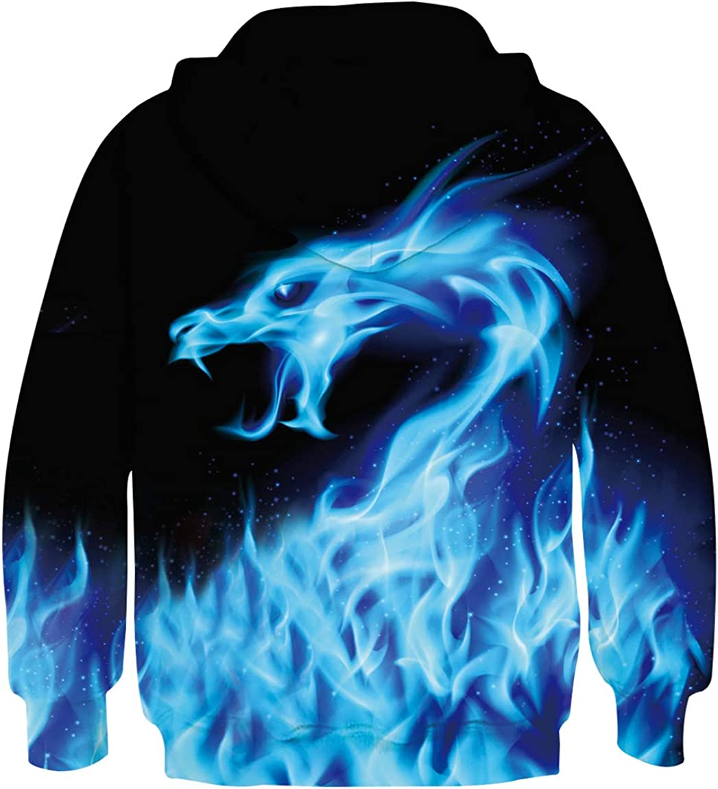 Ahegao Boys Girls Hoodies for Kids 3D Prints Casual Pullover Sweatshirts with Pocket for 6-16 Years: Clothing