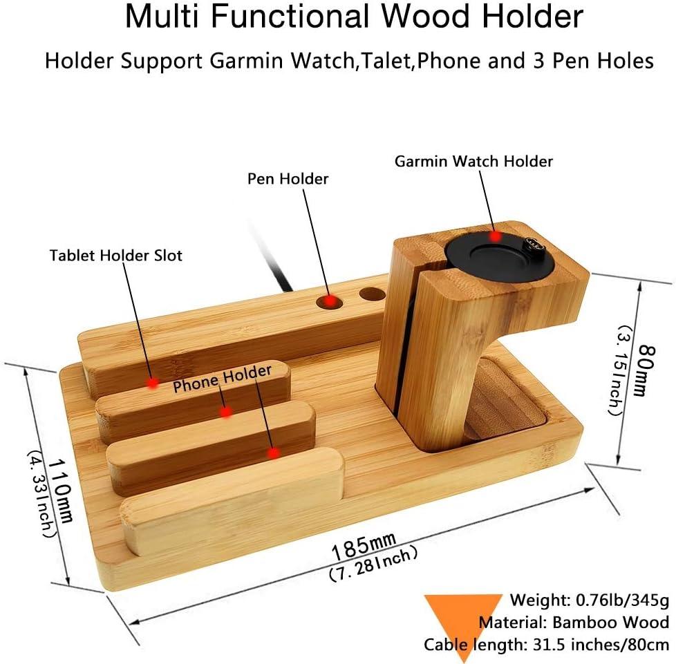 Yooside Bamboo Wooden Ladestation Dock Station Elektronik