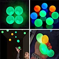 4Pcs Globbles Sticky Balls That gets Stuck on The roof,Glow in The Dark Ceiling Sticky Balls,Sticky Wall Balls,Stress Balls Gifts for Kids and Adult Figit Toys,Sensory Toys for ADHD, OCD, Anxiety