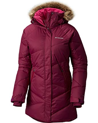 Columbia Women's Plus Size Lay D Down Mid Jacket Dark Raspberry (1X)