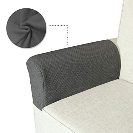 Fantastic Beauty You Anti Slip Stretch Armrest Cover For Fabric And Leather Couch Set Of 2 Different Designs Jacquard Knitted Fabric Sofa Armrest Cover Machost Co Dining Chair Design Ideas Machostcouk