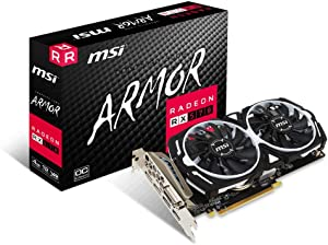 MSI Gaming Radeon Rx 570 256-bit 4GB GDRR5 DirectX 12 VR Ready CFX DVI/HDMI/DP Graphics Card (RX 570 Armor 4G OCV1)