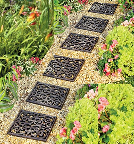 Garden Path Outdoor Pathway Trail Flowerbed Walkway Yard Decor Set of 6