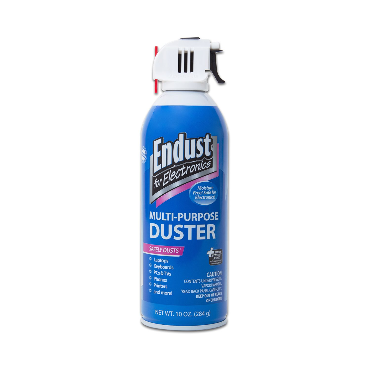 Endust for Electronics, 1 Compressed duster, 10 oz, Contains safety bitterant (11384)