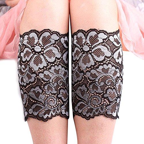 EUBUY Womens Stretch Lace Floral Boot Cuffs Leg Soft Laced Leg Warmer Socks -