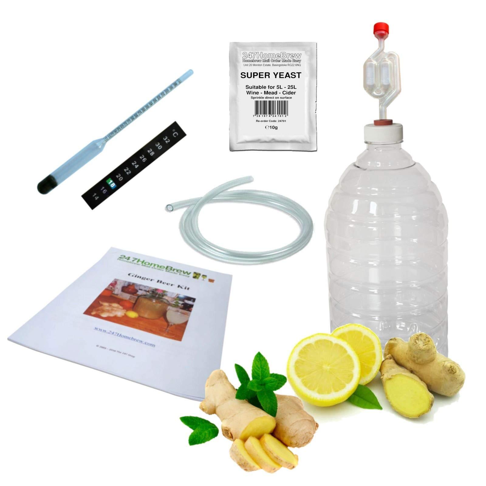 Ginger Beer Making Kit Full Starter 5L PET Demijohn Plus Mead & Cider
