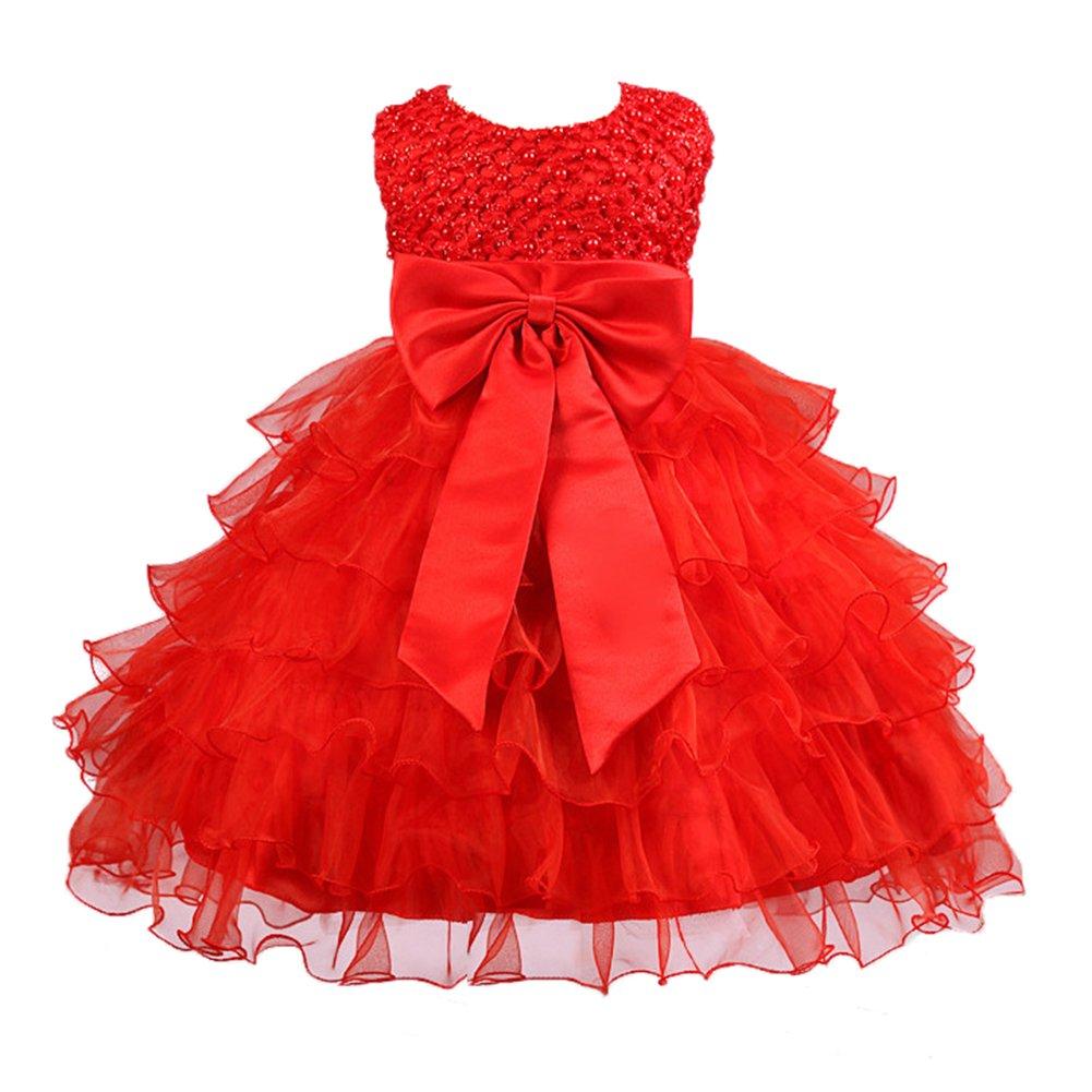 Highdas Flower Girl Dress Toddler Girl Outfit Christening Wedding Party