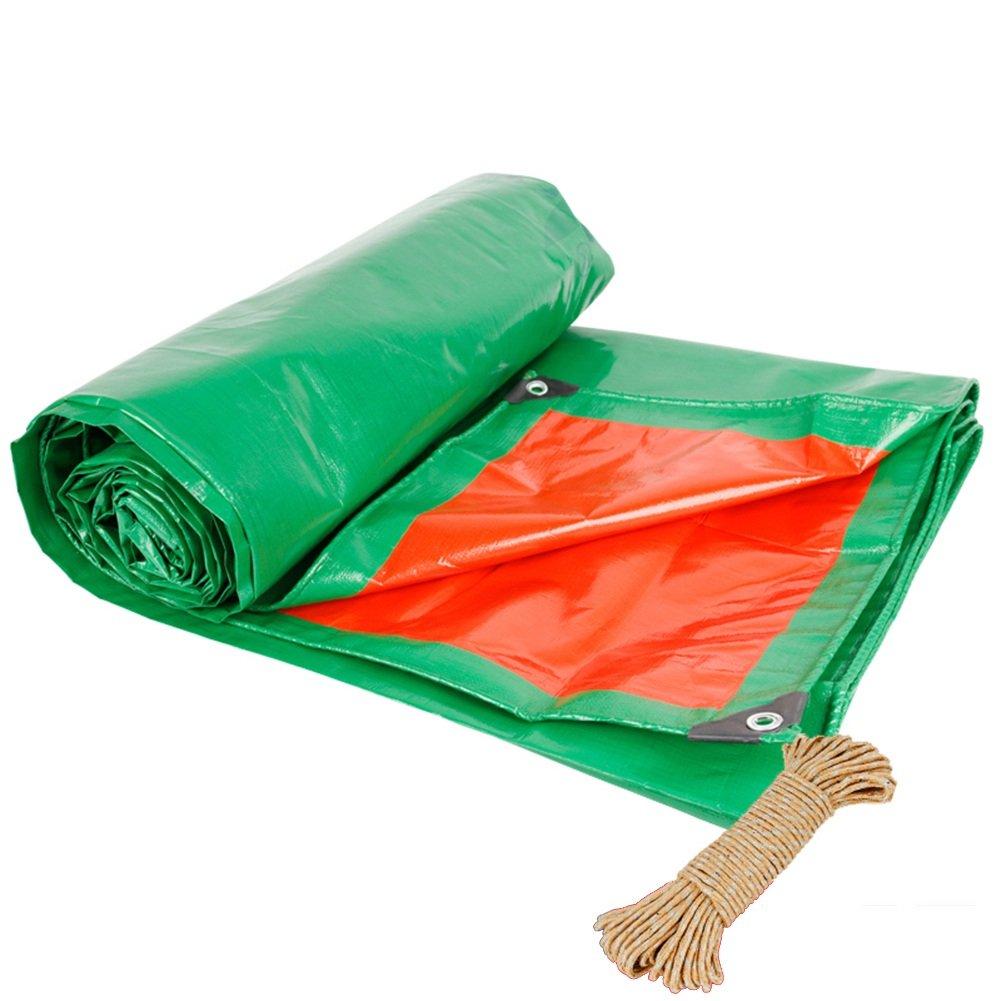 ZEMIN オーニング サンシェード ターポリン 防水 日焼け止め テント シート ルーフ 布 傷つきにくい 軽量 ポリエステル、 緑+赤、 190G /M²、 18サイズあり (色 : Green+Red, サイズ さいず : 4X5M) 4X5M Green+Red B07DFWS18H
