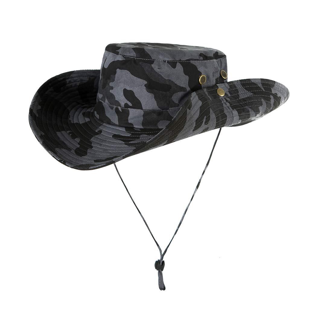 Outdoor Stylische Fischerhut Anglerhut Gartenhut Campinghut Bucket Hat Roll Up Wide Brim Sonnenblende Lifet Sonnenhut Herren Damen UPF 50