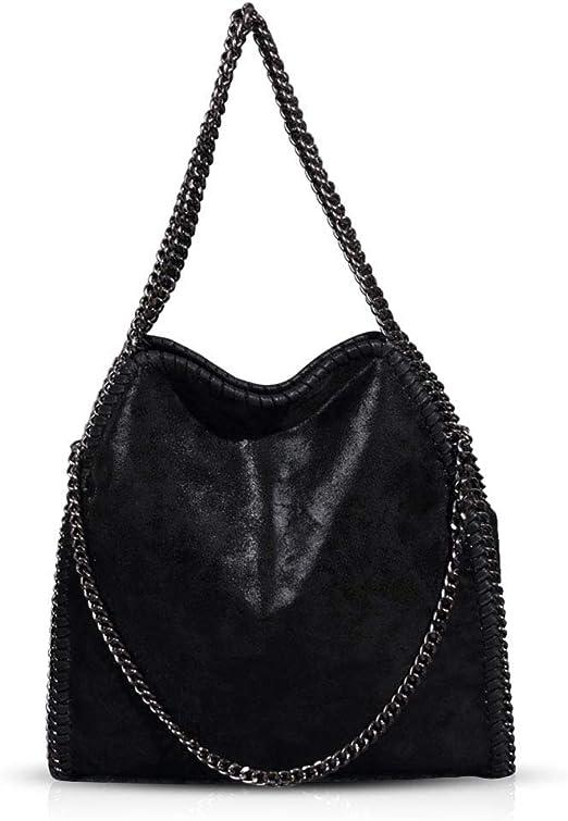Bolsos de mujer con cadena para colgar al hombro, tamaño