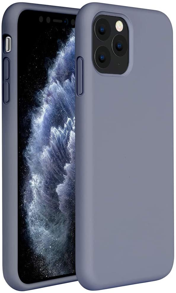 Miracase Liquid Silicone Case Compatible with iPhone 11 Pro 5.8 inch(2019), Gel Rubber Full Body Protection Shockproof Cover Case Drop Protection Case (Lavender Gray)