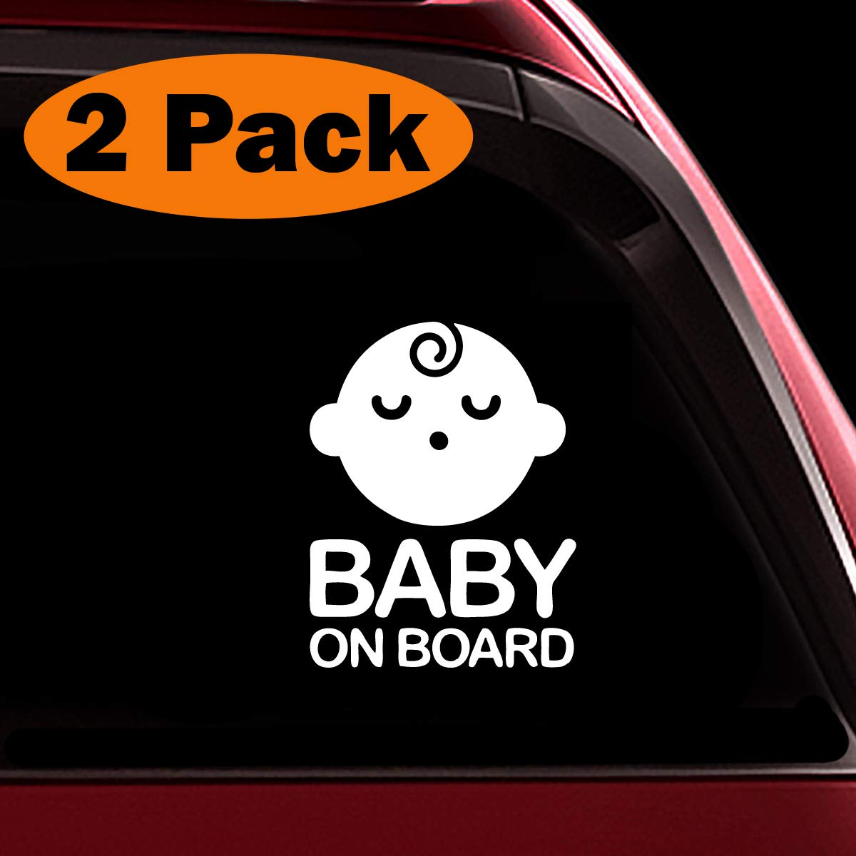 TOTOMO #ALI-021Baby on Board Sticker Decal Safety Caution Sign Car Windows Seelping Baby Girl