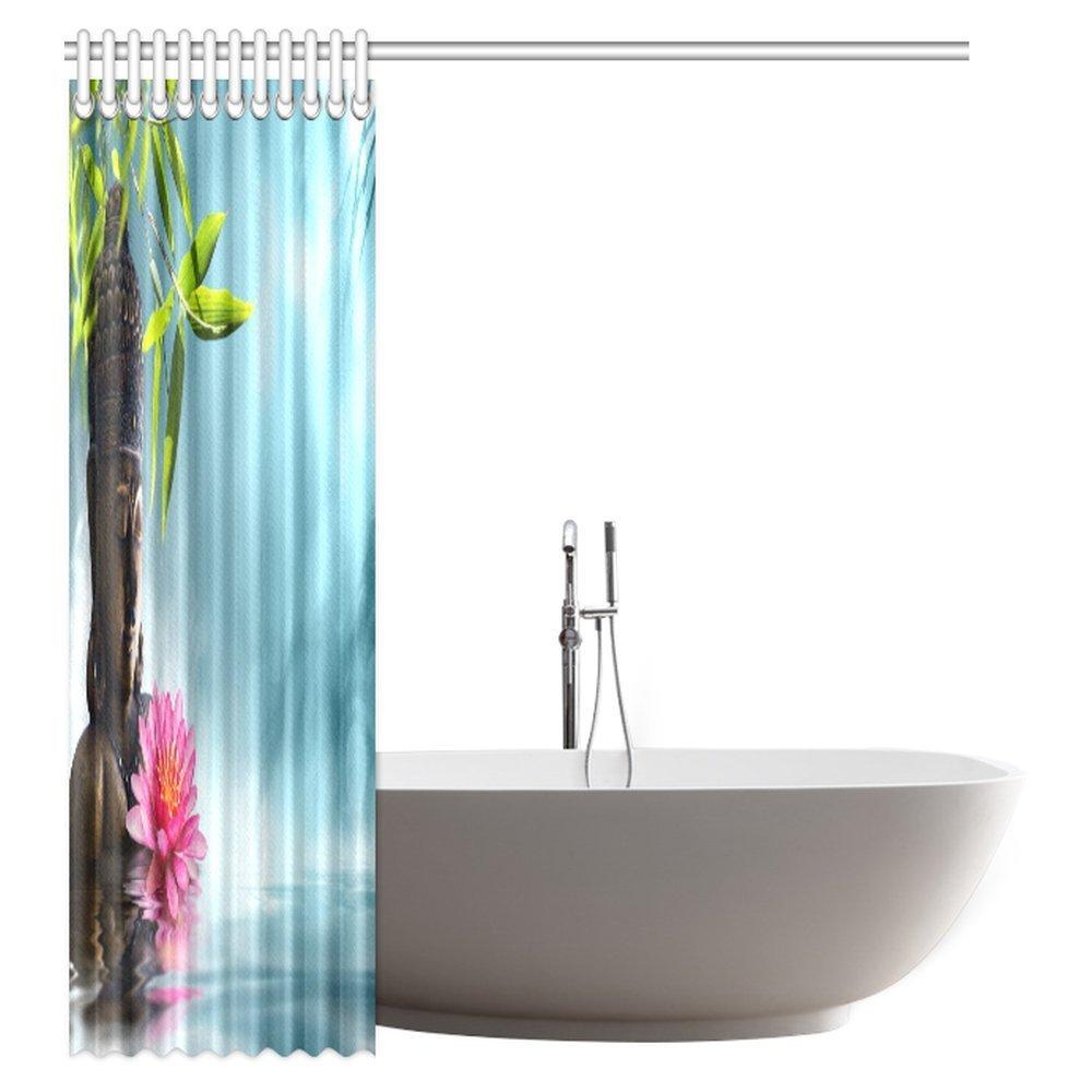 Amazon.com: InterestPrint Buddha Shower Curtain, Zen Buddha ...