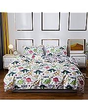 CoutureBridal Kids Duvet Cover Sets Printed Pattern Reversible Soft Lightweight Microfiber Bedding Sets
