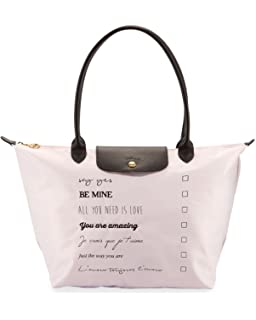 Longchamp Le Pliage St. Valentine Large Shoulder Tote Bag Girl Pink