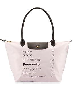 Longchamp Le Pliage St. Valentine Large Shoulder Tote Bag Girl Pink