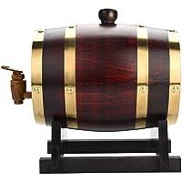 Barril de carvalho, barril de vinho vintage de madeira de carvalho de 1,5 l para cerveja, uísque, rum, porta de…