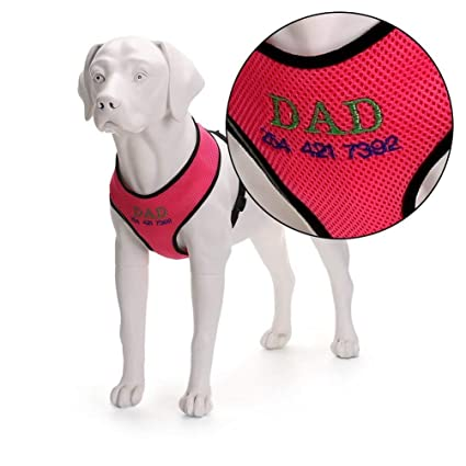 6b867b9b3646 SLZZ Personalized Custom Dog Harness - Soft Breathable Comfortable Mesh  No-Pull Dog Vest Harness for X-Small Small Medium Large Dogs - Embroidered  Name ...
