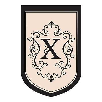 Monogram Garden Flag Letter: X