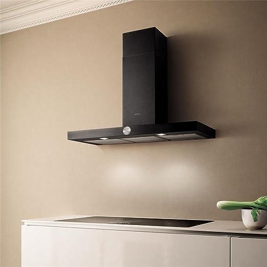 Campana Cocina Elica pared LOL negra 90 cm: Amazon.es: Grandes electrodomésticos