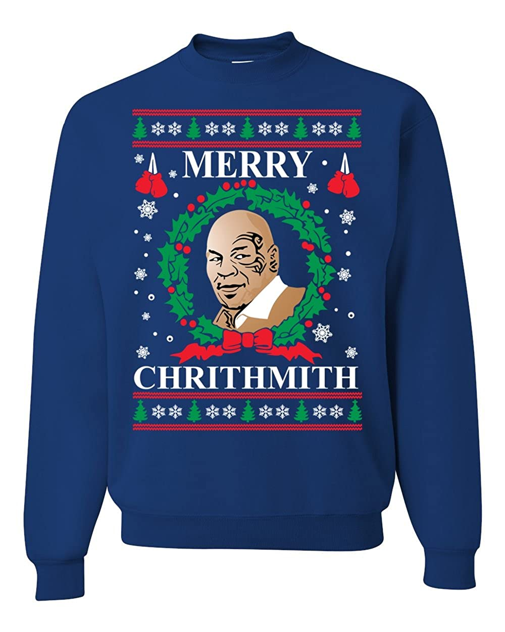 Merry Chrithmith Mike Tyson Ugly Christmas Sweater Unisex Crewneck Sweatshirt