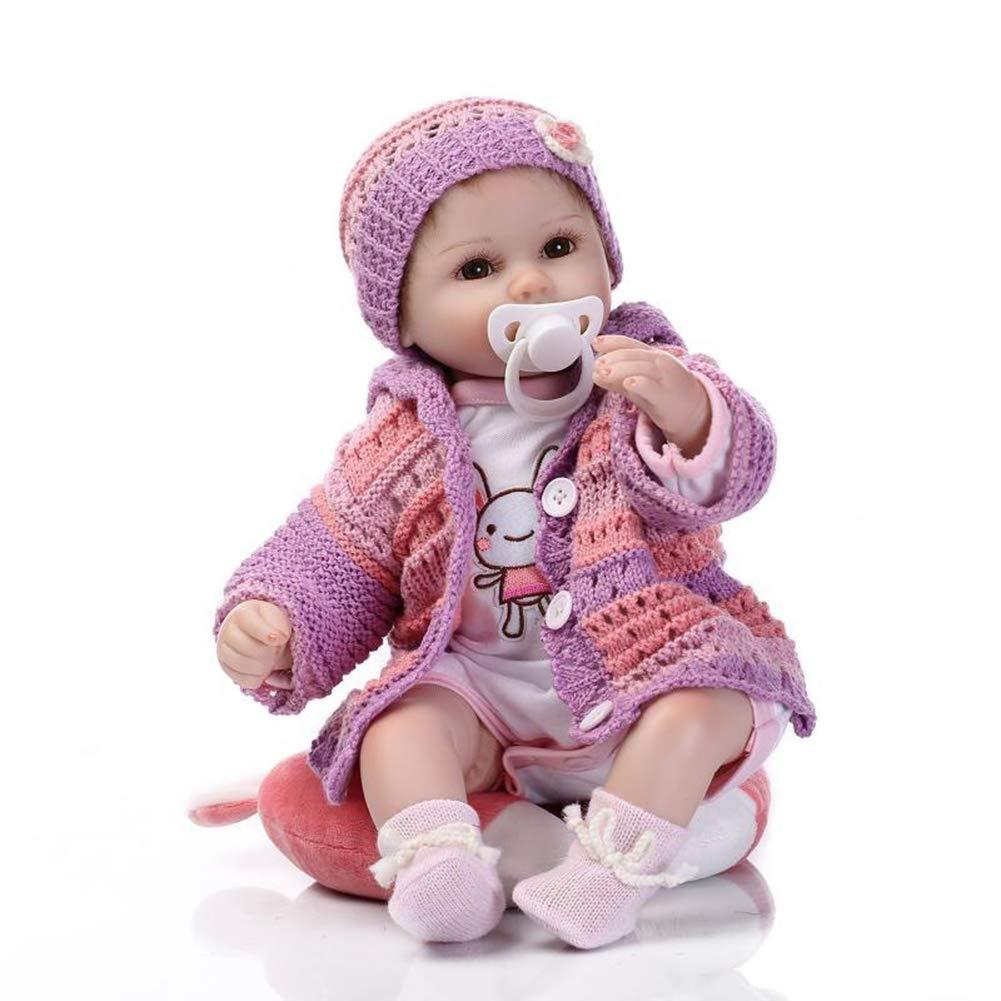 42 cm   17 Zoll Reborn Baby-Puppe Lebensechte ähnliche echte Babys Augen öffnen handgemacht für Kinder Spielzeug Puppen