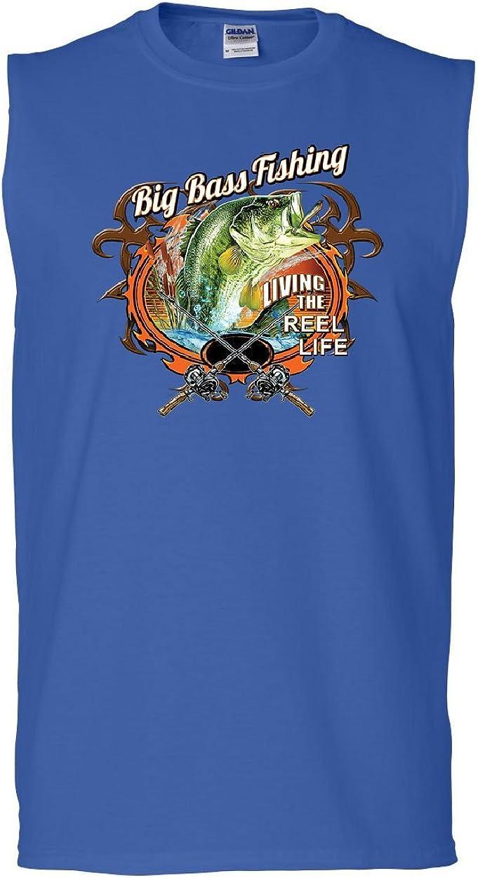 Big Bass Fishing Youth T-Shirt Living the Reel Life Fisherman Spinning Kids Tee