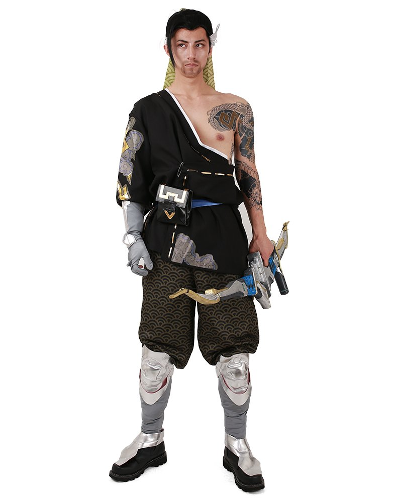 Miccostumes Men's Hanzo shimada Cosplay Costume (Men l)