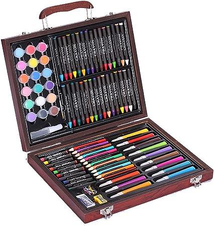Sikungjlk Set de Arte Juego de Arte para niños de 101 Piezas Lápices de Colores Lápices de Colores Estuche Dibujo Adolescentes Niños para Dibujar y Dibujar Set de Pintura de Estuches: Amazon.es: