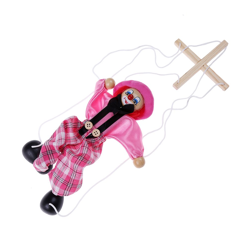 Lalang Pull String Puppet Marionettes Clown Toy, 1 Pack Random Color 88_Store