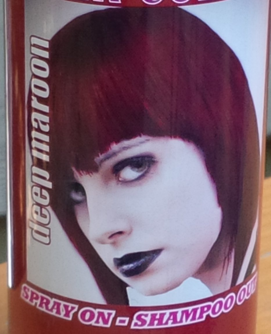 Amazon Spray On Wash Out Deep Maroon Hair Color Temporary