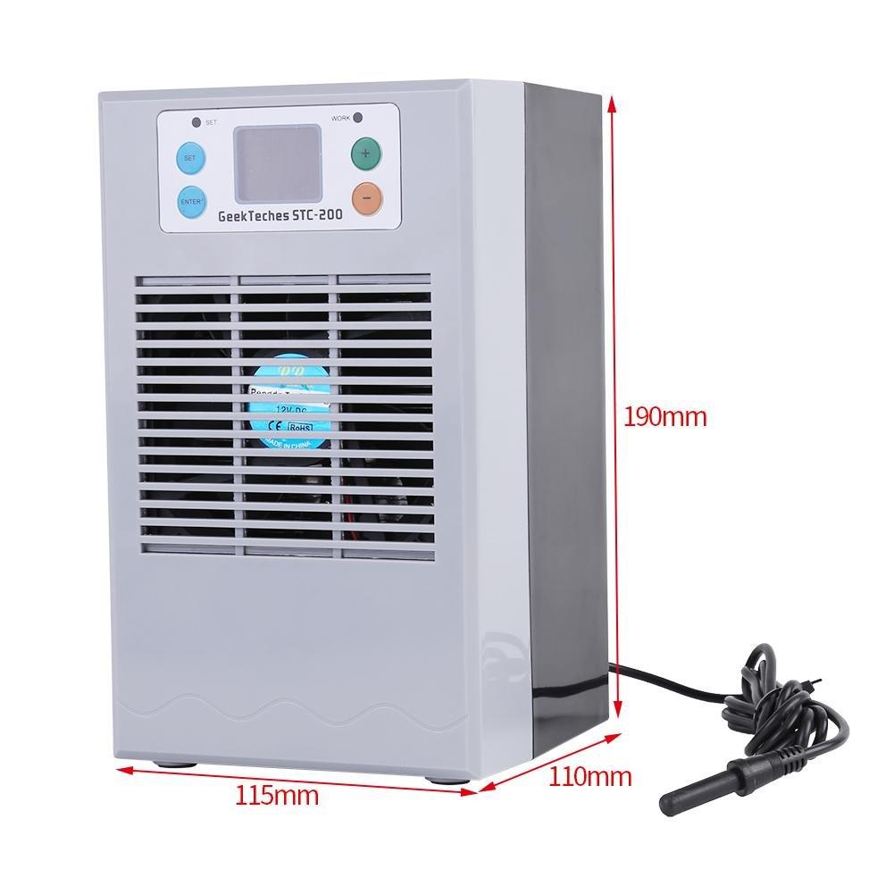 Akozon Tanque de peces de refrigeración por agua Máquina de calefacción Regulador de temperatura digital Regulador de termostato para Acuario, Acuicultura e ...