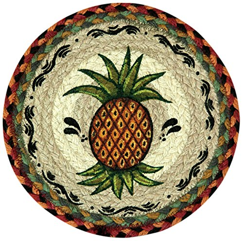 Braided Round Trivets - Earth Rugs 80-375P Trivet, 10-Inch, Burgundy