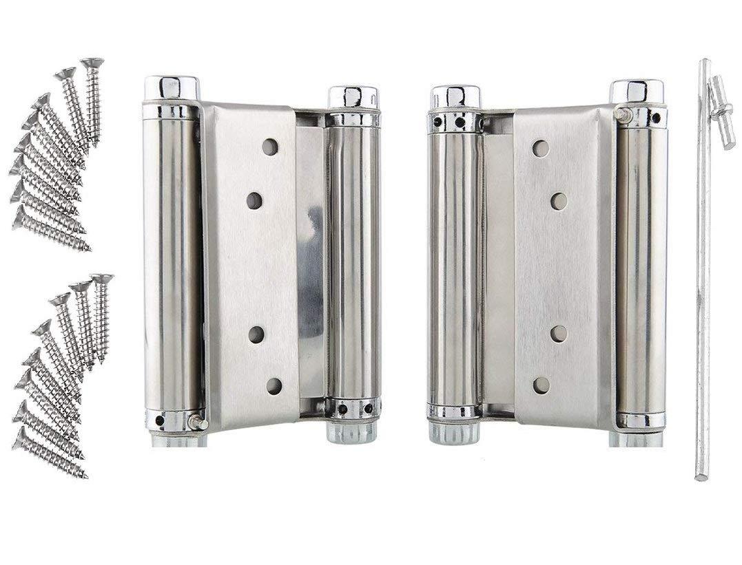 el Hogar Gabinete FEMOR 2 pcs Bisagras Para Puertas la Puerta del Armario etc 150 mm con Tornillos Conectores Plegables de Muebles de Acero Inoxidable