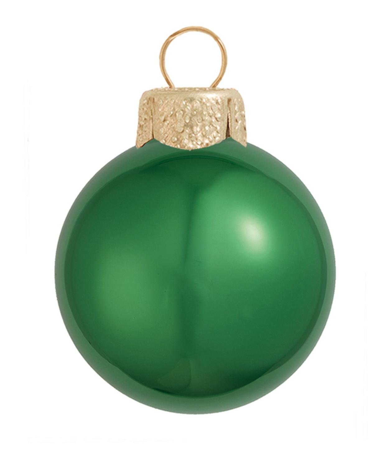 40ct Pearl Green Xmas Glass Ball Christmas Ornaments 1.5'' (40mm)