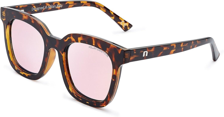CLANDESTINE Gatto & Quadrato - Gafas de Sol anti-reflectantes para Mujer y Hombre