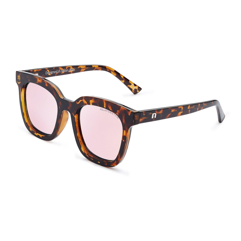 CLANDESTINE Gatto & Quadrato - Gafas de sol HD Hombre & Mujer