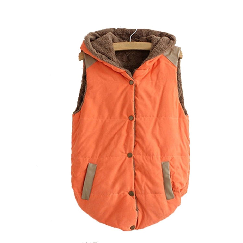 Baost Women Thick Hooded Waistcoat Vest Warm Casual Hoodies Jacket