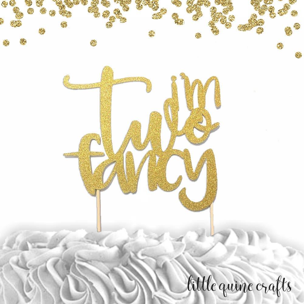 Cursive Script letter. Glitter Sparkle Twins Gold Cake Topper Chic baby shower decor