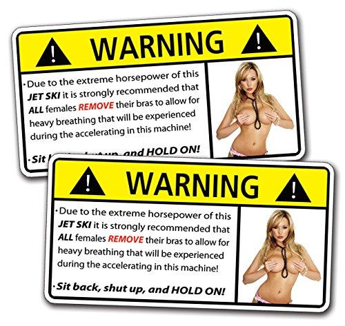 Jet Ski Sexy Girl HOT Warning Decal Sticker Funny