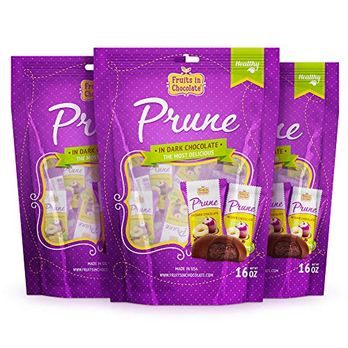 Dark Chocolate Covered Prunes, 6 Oz Bag (Pack of - Plums Plum Sunsweet Dried