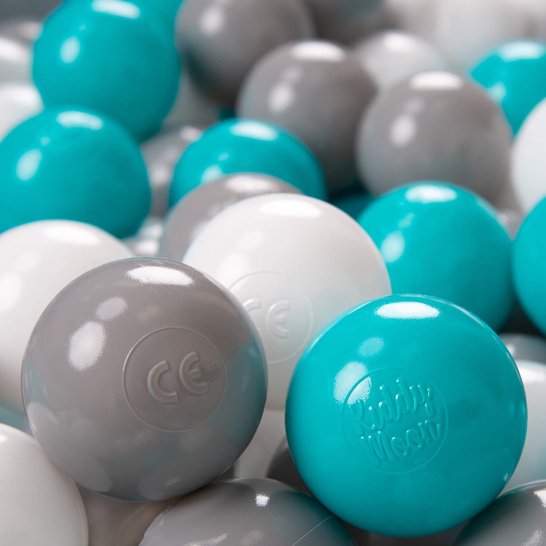 Blau KiddyMoon 100 /∅ 6Cm Kinder B/älle F/ür B/ällebad Spielb/älle Baby Plastikb/älle Made In EU