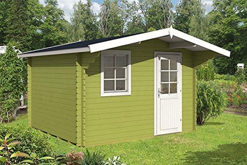 Jardín Casa Lugo 40 bloque madera casa 350 x 320 cm – 40 mm Casa de vacaciones: Amazon.es: Jardín