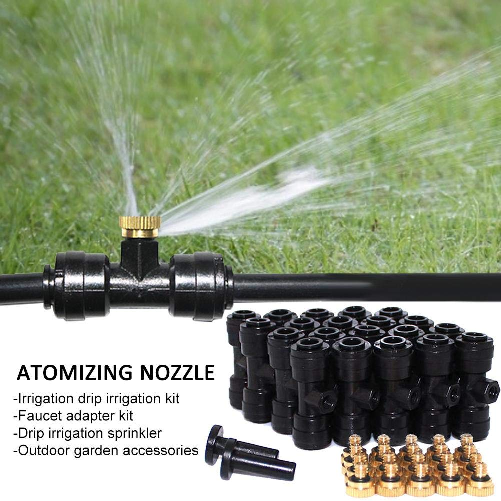 Micro Garden Lawn Water Mist Spray Misting Nozzle Sprinkler Cooling System